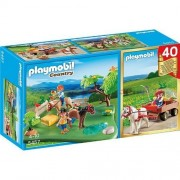 Playmobil 40th Anniversary Compact Set Pony Pasture & Pony Wagon Construction Toy by Playmobil (English Manual)