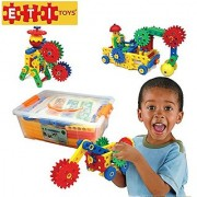 ETI Toys-109 Piece Educational Engineering Building Set for 4 5 6 7+ Year Old Boys & Girls. Fun Learning Construction Blocks & Gears Kit makes it the Best STEM Toy Gift for Kids Ages 4yr - 8 yr.