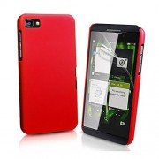 ImagineDesign Rubberised Hard Case For Blackberry Z10 (Maroon / Wine Red)