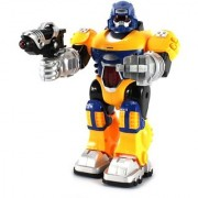 Power Warrior Android Robot Toy Figure w/ Lights Sounds Realistic Walking Function (Colors May Vary)