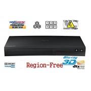 3D & 2D Region Free Samsung Bd - J5500 Curved 3D Bluray Player Blu-Ray / Blu-Ray 3D / DVD Player - Zone A,B,C & Dvd - 0-9