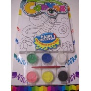 Paint Your Own Canvas Craft Kit ~ Smiling Butterfly And Flowers (Includes 6 Paints, Paint Brush, Canvas With Wiggle Eyes)