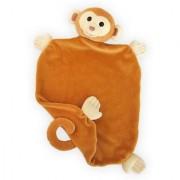 Apple Park Picnic Pal Organic 15 x 12 Blankie Monkey