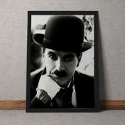 Quadro Decorativo Charles Chaplin A Face 35x25