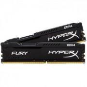 RAM памет Kingston HyperX Fury 16GB(2x8GB) DDR4 PC4-19200 2400Mhz CL15 HX424C15FBK2/16, KIN-RAM-HX424C15FBK2/16