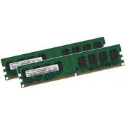 Samsung - RAM 2GB Dual Channel SAMSUNG, 2 x 1 GB, 240 pin DDR2-800, 800Mhz, PC2-6400U, CL6, unbuffered, componente M378T2953QZS-CF7, per schede madri DDR2
