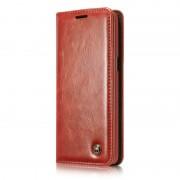 Samsung Galaxy S8 Plus rustiek leren boekhoesje rood