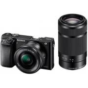 Aparat Foto Mirrorless Sony A6000 (Negru) + Obiectiv 16-50mm + Obiectiv 55-210mm, 24.3 MP, Wi-Fi
