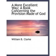 A More Excellent Way; A Book Concerning the Provision Made of God by William B Clarke