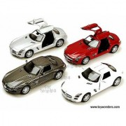Mercedes Benz SLS AMG - Scale 136 Diecast Metal Pull Back Action Toy Car