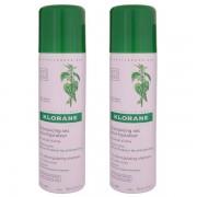 Klorane Ortica di shampoo secco Spray confezione di 2 x 150ml