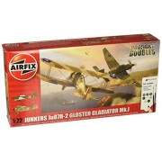 Airfix Junkers Ju87R-2 Stuka and Gloster Gladiator Mk 1 Dogfight Double 1:72 Plastic Model Gift Set