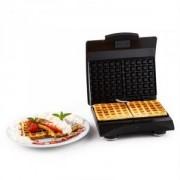 Klarstein Waffle Buddy, 700 W, 2 lemez, rozsdamentes acél, gofrisütők, piros