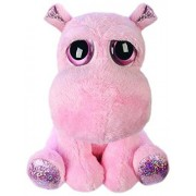 BabyCentre Suki Gifts Lil Peepers Fun Holly Pink Hippo Plush Toy with Pink Sparkle Accents (Medium, Pink)