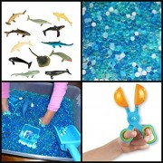 JellyBeadz Deep Sea SHARK FRENZY Adventure Pack-12 Varieties of Sharks and Sea Creatures and 1000's of JellyBeadZ BeadZ that Make an Ocean of Fun ...Includes 1 Scoop