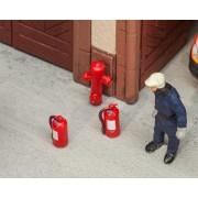 Faller 6 Brandblussers en 2 Brandkranen 180950