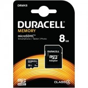 Duracell 8GB microSDHC geheugenkaart inclusief SD adapter (DRMK8)