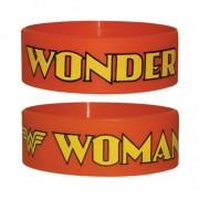 Wonder Woman Rubber Braccialetto Rosso Logo