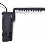 vidaXL Akvarijní filtrační čerpadlo s aktivním uhlím a roztřikovačem, 300 l/h