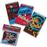 Lot of 12 Assorted Rockstar Rock and Roll Design Mini Spiral Notebook Memo Pads