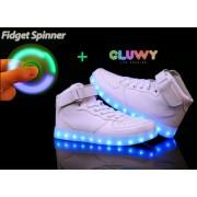 LED topánky - Sneakers biele