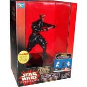 Star Wars Episode 1 The Phantom Menace 12 Inch Tall Action Figure Interactive Talking Bank - DARTH M