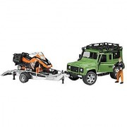 Land Rover Defender w trailer snowmobile and DRIVER