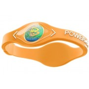 Pulseira Power Balance Silicone Neon Orange/White (Laranja) - P (17,5cm)