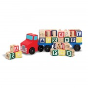 Melissa & Doug Alphabet Blocks Truck - Red - 5175
