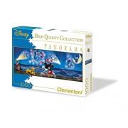 Clementoni - Puzzle de 1000 piezas, Panorama Disney, diseño Mickey & Minnie (392872)