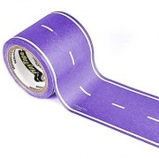 PlayTape Classic Road Purple Road - Instantly Create your Own Roads Anytime Anywhere - For All Kids Who Love Cars & Trains - Perfect for Birthday Gifts & Endless Fun (Purple Road 30'x2 )