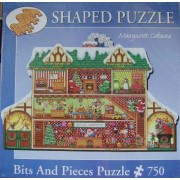 Margaret Cobane Santas Workshop Shaped Puzzle 750 Pieces