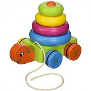 Vilac Pull Along Toy Turtle Stacker