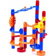 65 Piece Marble Maze Building Set (35 Pieces And 10 Marbles Plus 20 Bonus Marbles)