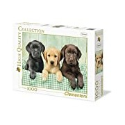 Clementoni 39279.7 Jigsaw Puzzle High Quality Collection 1000 T Three Labrador Classic
