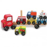 Vilac Truck & Trailer with Cars Stacking Game