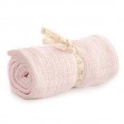 Bizzi Growin Cot Bed Cotton Cellular Blanket Pink