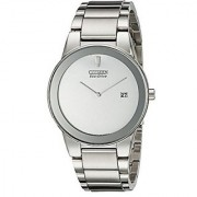 Citizen Silver Synthetic Round Dial Quartz Watch For Men (AU1060-51A)