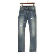 【75%OFF】BOLT DENIM10 ダメージ加工 デニム インディゴ 29 ファッション > メンズウエア~~パンツ