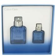 Calvin Klein Eternity Aqua EDT Spray 3.4 oz / 100.55 mL + EDT Spray 1.1 oz / 32.53 mL Gift Set Men's Fragrance 511002