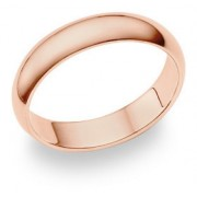 14K Rose Gold Comfort Fit Wedding Band Ring (5mm)