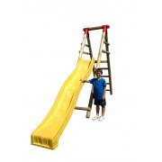 Piattaforma in legno con Scivolo Ondulato 3M