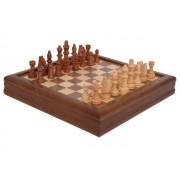 Juego de ajedrez en madera de marquetería