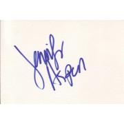 Jennifer Aspen Autographed Index Card