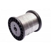 Fio de Choque Arame Aço Inox para Cerca Elétrica Carretel Bobina Rolo Bitola 1,20mm - 6 KG