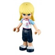 LEGO Friends: Stephanie (Football Uniforme) Minifigura