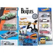 Beatles Hot Wheels VW Yellow Submarine Series 2016 Volkswagen Blue Meanie Kool Kombi + VW Type 34 Karmann Ghia Convertible Matchbox #29 & VW SP2 Exclusive 5 car set + Limited Edition