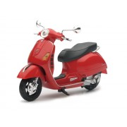 Miniatura Vespa GTS 300 roja escala 1:12
