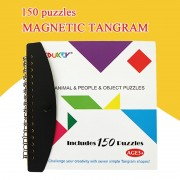 150 Puzzles Magnetic Tangram Kids Toys Challenge Your IQ A Montessori Educational Magic Book Suit For 3-100 Years A Family Gift