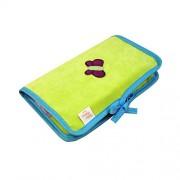 Câlin Câline 405.37 Lilou - Funda para documentos del bebé, color verde y azul